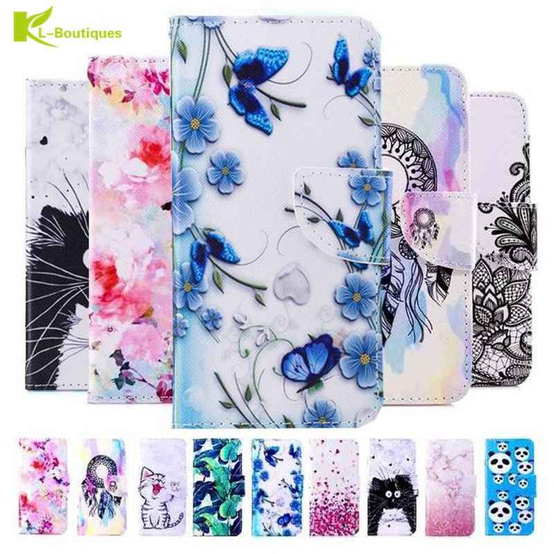Flip Wallet Case for Huawei P10 Plus P8 P9 lite mini Y5 2017 Y6II Compact Book Style Phone Case 3D Vision Leather Cases Coque