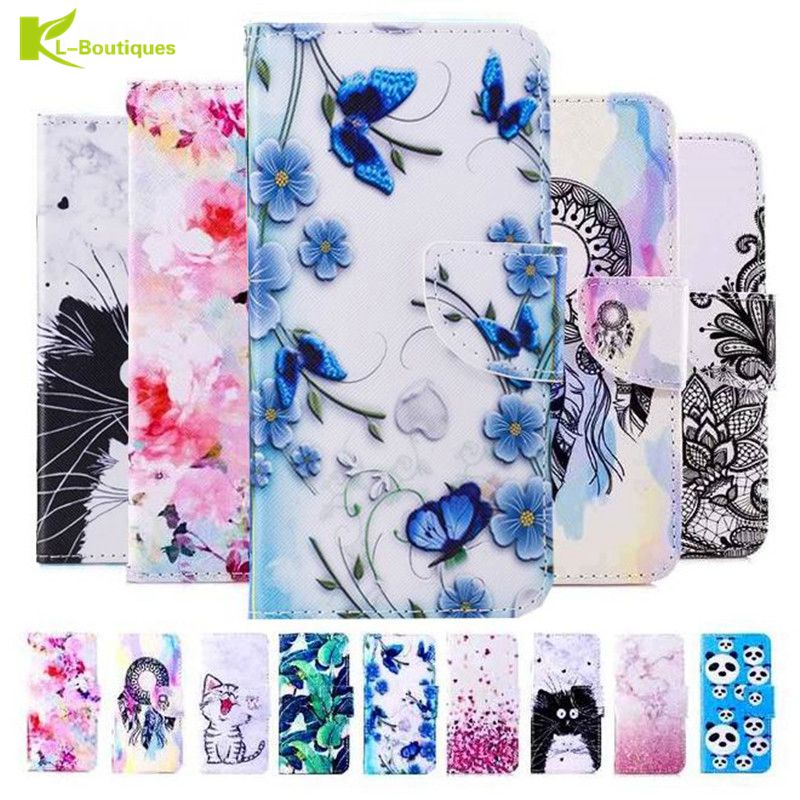 Flip Wallet <font><b>Case</b></font> for <font><b>Huawei</b></font> <font><b>P10</b></font> Plus P8 P9 lite mini Y5 2017 Y6II Compact Book Style Phone <font><b>Case</b></font> 3D Vision Leather <font><b>Cases</b></font> Coque image