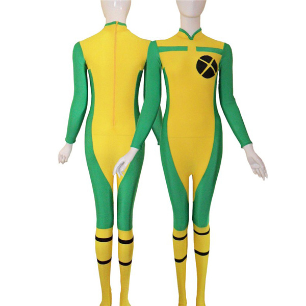 Discounted Spandex Bodysuit Halloween Cosplay Costumes Green Color Womens Superhero Costume Different Sizes Elastic Lycar XCC008