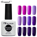 Vrenmol 1pcs Soak Off UV Gel Nail Polish Long Lasting 60 Shining Colors Gel Nails Esmaltes Permanentes De UV Varnish
