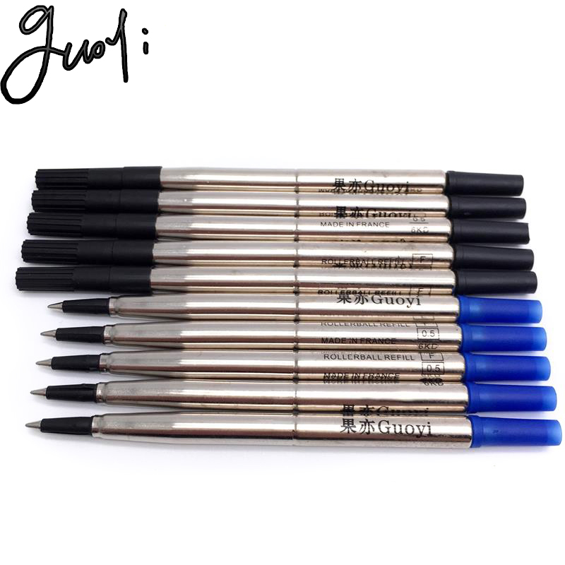 Guoyi Q020 Creative Neutral Refill 10pc /lot For School Office Stationery Ballpoint Pen Hotel Business Writing Accessories