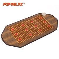 POP RELAX Korea Health Mattress Photon Heating Therapy Pad Germanium Mainfan Ceramic Pain Relief Electric Jade Stone Massage Ma