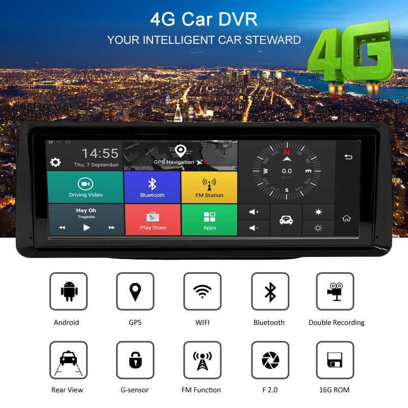 """Bluavido 8 """"ips 4G ADAS Автомобильный видеорегистратор Android gps навигация 1080P Автомобильный видеорегистратор ночного видения Bluetooth Wi-Fi живой монитор"""