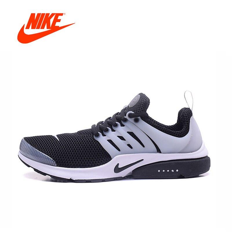 f23c1b01393 Nike homens Presto Ar oficial Original em Preto e Branco Ou Todo Branco  Correndo Sapatos Confortáveis