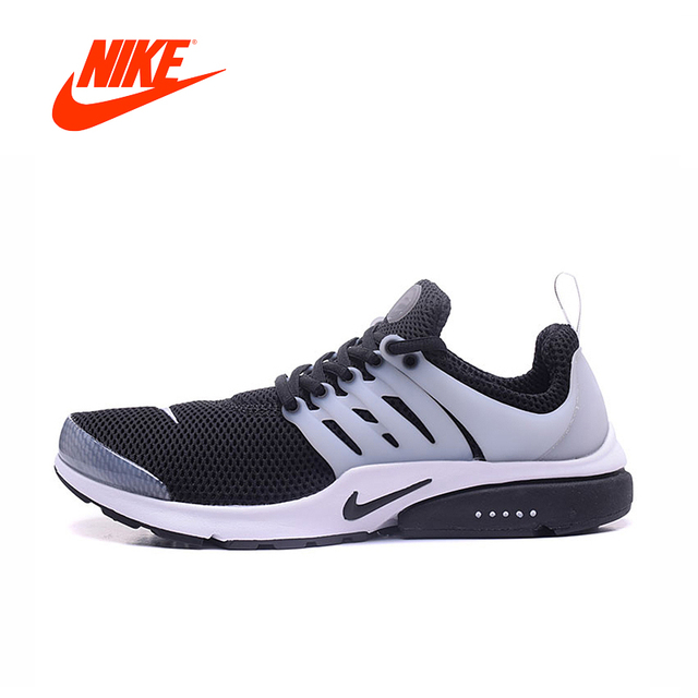 huge discount 28a4e ab1ce Official Original Nike Air Presto Men s Black and White Or All White  Running Shoes Comfortable Sport Sneakers