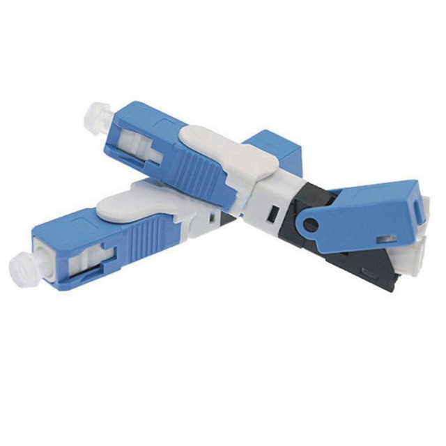 100PCS FTTH SC UPC Optical fibe quick connector Fiber Optic Fast Embedded type ESC250D