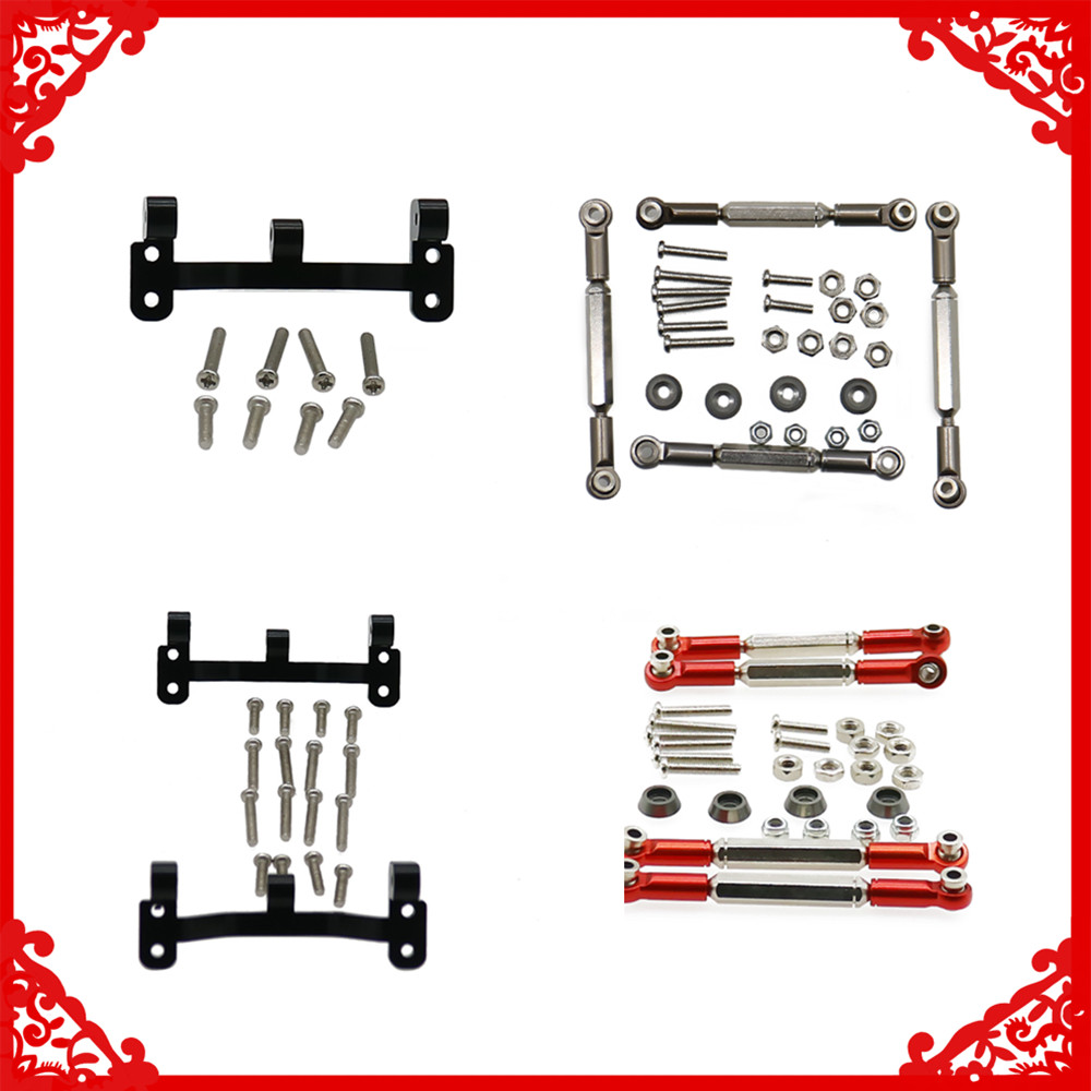 UPgrade part Front And Rear Link Plat & link Rod Set For WPL Henglong B1 B14 B16 C14 C24 B24 B26 JJRC Q61 Q60 4x4 Military TruckUPgrade part Front And Rear Link Plat & link Rod Set For WPL Henglong B1 B14 B16 C14 C24 B24 B26 JJRC Q61 Q60 4x4 Military Truck