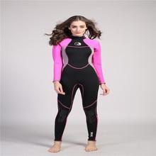 HISEA 3MM Neoprene Women Long Sleeved Wetsuit Snorkeling One-Piece Diving Wet Suit Warm Clothing Swim Surf Spearfishing Wearing