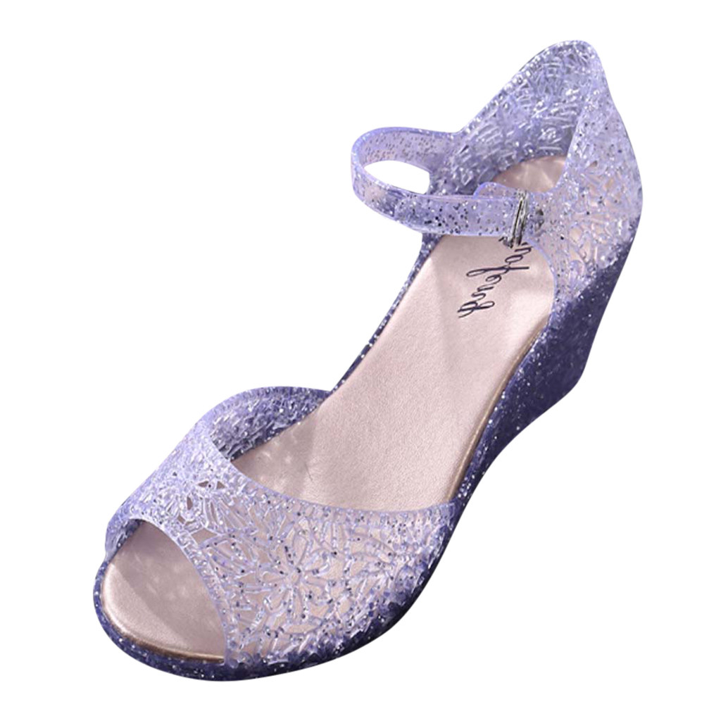 SAGACE Summer Shoes Sandals Wedges Clogs Crystal Woman Buckle Breathable Anti-Skid Casual