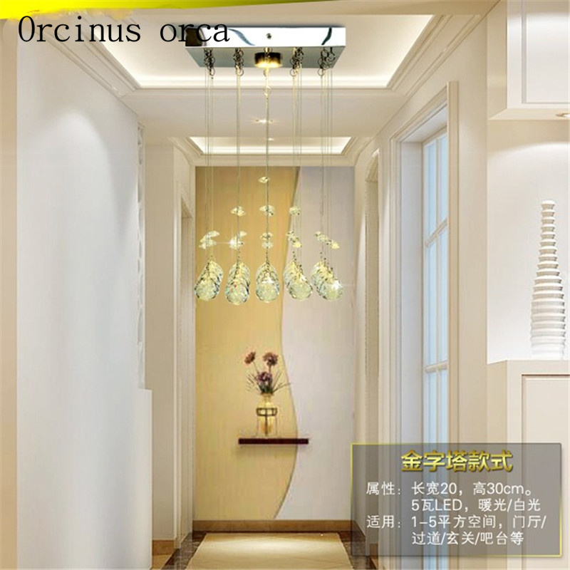 New Suspension Hanging Crystal LED 3W mini Ceiling Lamp Corridor Balcony Aisle Hallway Lights Living Room Indoor Lighting - 2