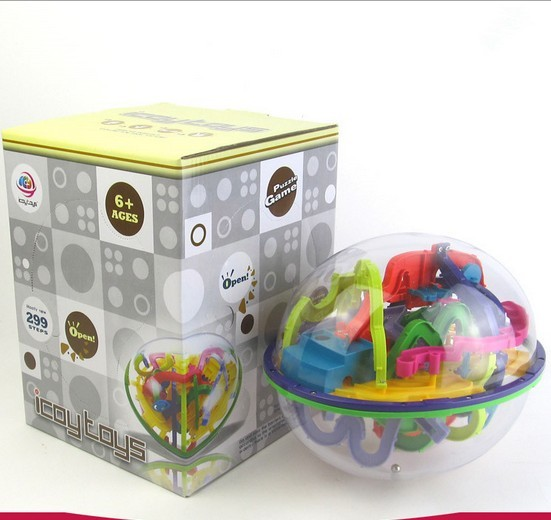 3D Magic Maze Ball Puzzle Toys Space Travel Intellect Ball Balance Maze Game Kids IQ Trainer Games Toys 299 Closed Level