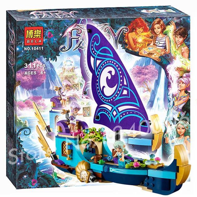 311 шт. Найда's Epic Приключения Корабль 10411 модель Строительные Блоки Кирпич Вода ЭЛЬФ Эльфы Chlidren Игрушки Совместимость С Lego серии