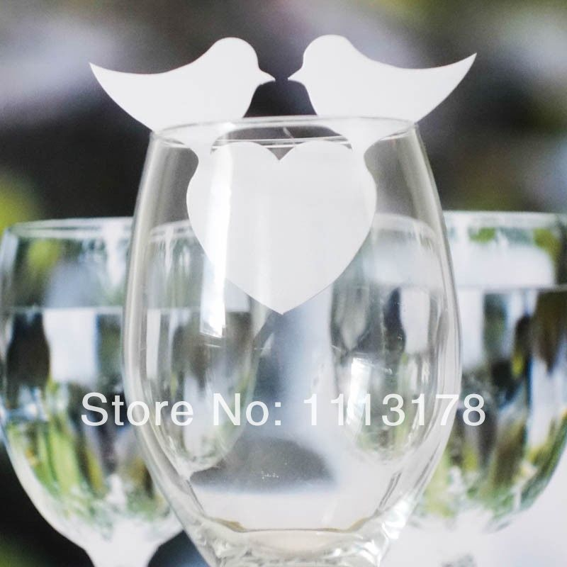 Cheap Wine Glass markers Wine Glass Markers Wedding Cake Toppers bird birthday baby shower Party Decorations image