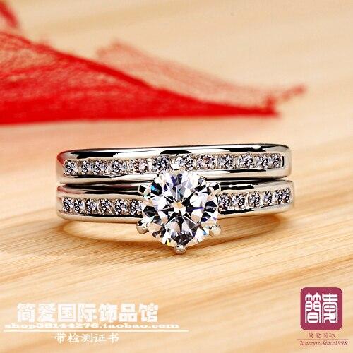 Di lusso di qualità 1ct taglio cuscino NSCD sintetico pietra wedding ring per le donne, argento massiccio anello di fidanzamento, proposta anello-in Anelli da Gioielli e accessori su  Gruppo 1