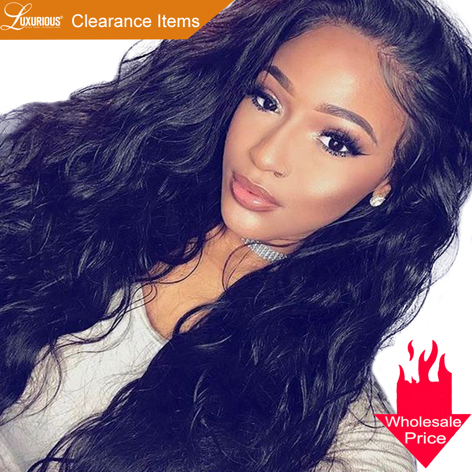 Brazilian Natural Wave Lace Front Human Hair Wigs For Women Pre Plucked Lace Wig With Baby