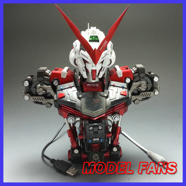 MODEL FANS INSTOCK finished gundam 1/35 red/blue heresy Bust contain led light toy gift action figure model fans m3 model pg 1 60 red heresy gundam special large sword backpack gift water paste free shipping