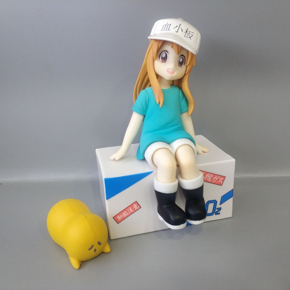 14cm Anime Nendoroid Hataraku Saibou Platelet Kesshoban Cells At Work PVC Action Figure Collectible Model Toy Gift 5