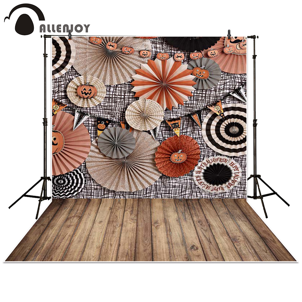Allenjoy photography backdrop Halloween paper pumpkin lights baby shower children background photo studio photocall 300cm 200cm about 10ft 6 5ft fundo butterflies fluttering woods3d baby photography backdrop background lk 2024