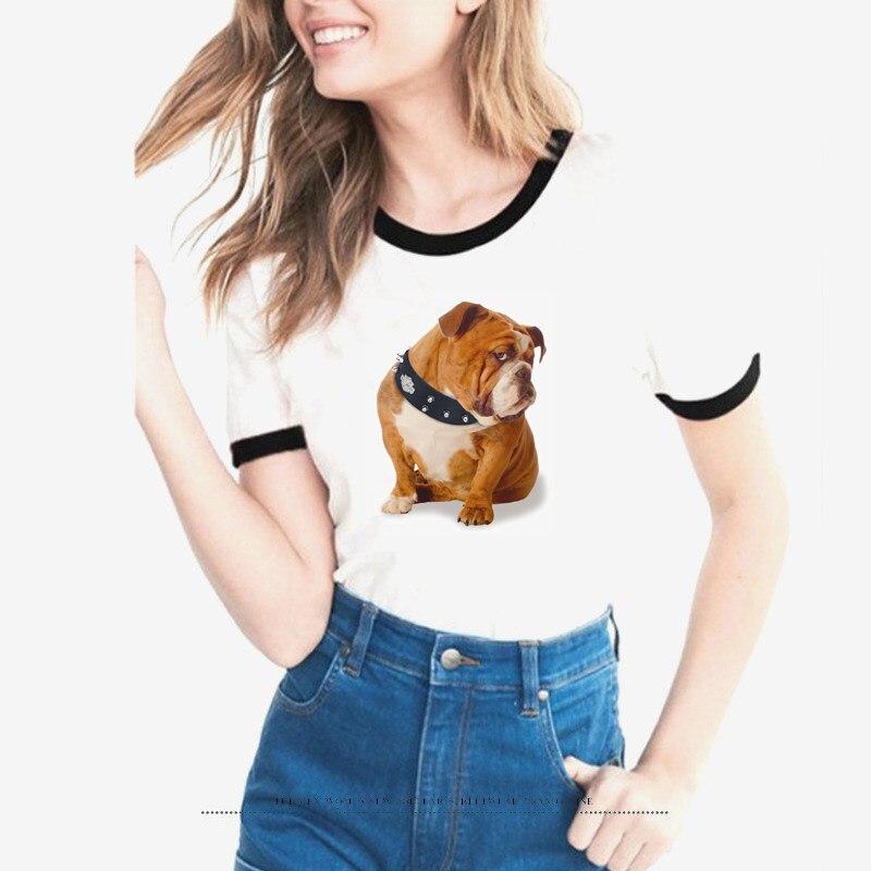 Lovely Funny Bad Dog Design T Shirt Women Cute Naughty