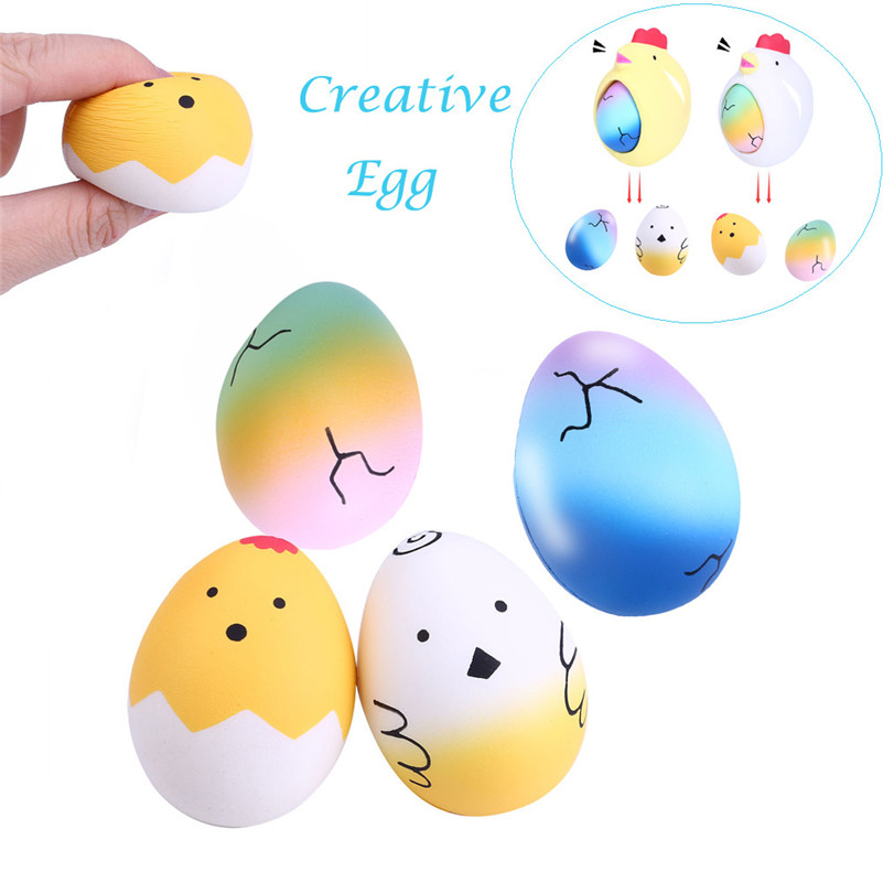 Surprise Hen Laying Starry Rainbow Eggs Creative Squeeze Relieve Stress Toy  Squirrel Stationery Wipes Anti-stress For Kid A1