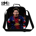 Personalized Lionel Messi insulated Lunch Bags for boys school thermal lunch container for Children ,lunch box bag cooler bag