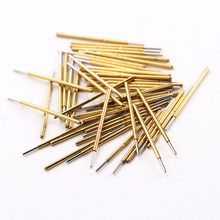 P50-J Test Needle (Cylindrical Head) 100 Pcs/ Package Probe Thimble Length 16.35mm Metal Spring of Circuit Boards