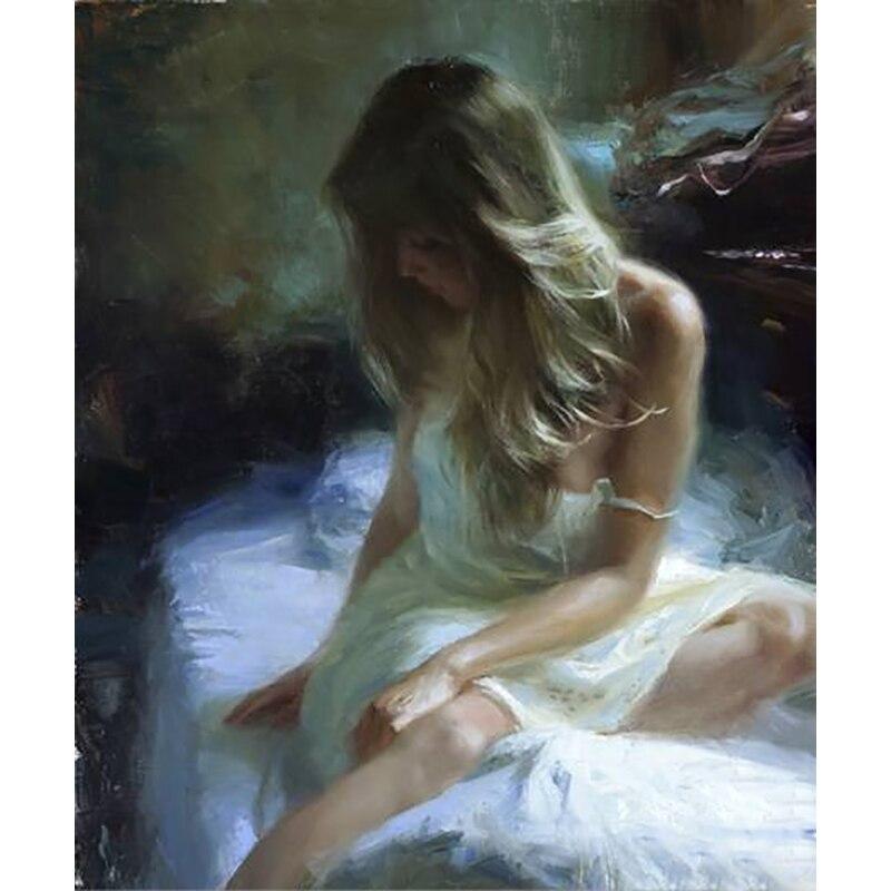 Топ художника ручной работы музейного качества пикантные женские живопись маслом на холсте ручной работы секс тела леди Портрет маслом для