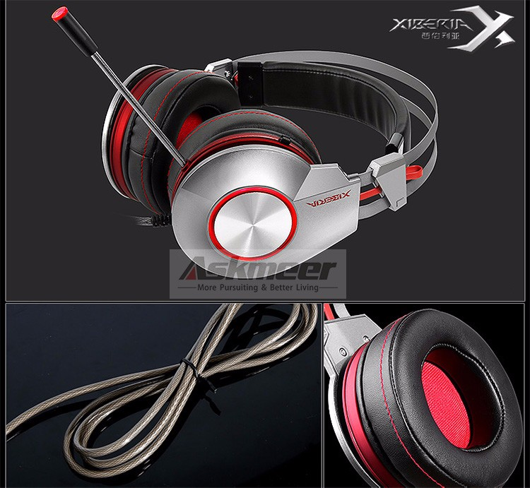 XIBERIA K5 Comfortable USB Over-Ear Pro Gaming Headset for PC with Surround Sound Flexible Microphone (4)