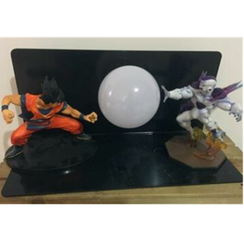 5 Dragon Ball Z Youth Son Goku VS Universe Boss Frieza With LED Light Table lamp PVC Action Figure Collectible Model Toy D439 433 mhz univeral wireless rf remote control switch ac 85v 220v 1ch receiver module with 433mhz 4ch transmitter remote controls