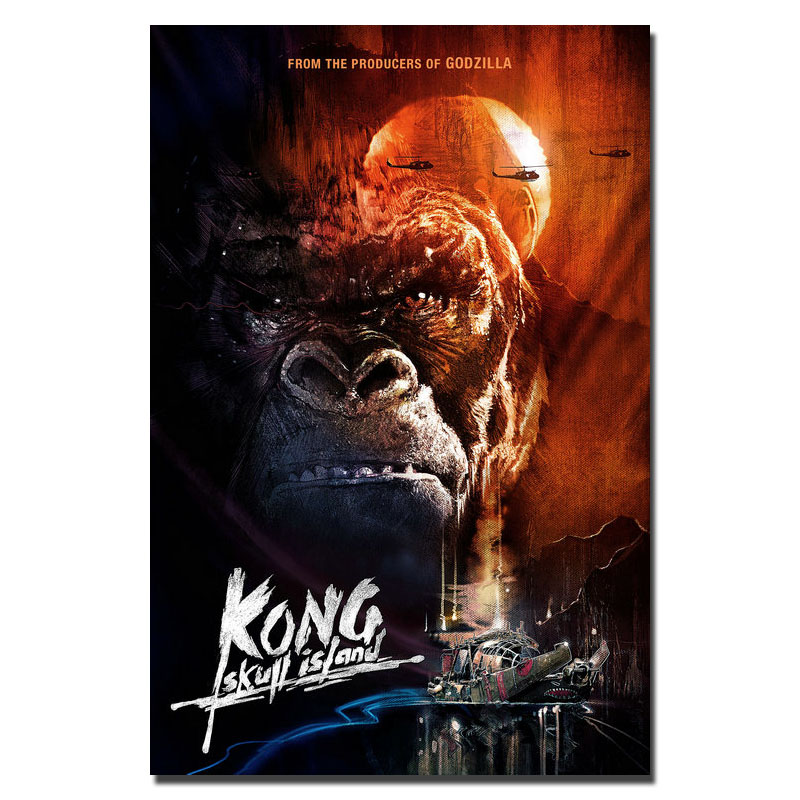 2017new Kong Schedel Eiland Hot Movie Canvas Of Zijde Poster 32x48 13x18 Inch King Kong Foto Voor Rom Decor (klik Om Meer)-2