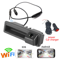 APP WIFI car rear camera wireless for Audi A6L A3 A4 S5 Q7 A8L trunk handle camera Power Plug for Android IOS Device