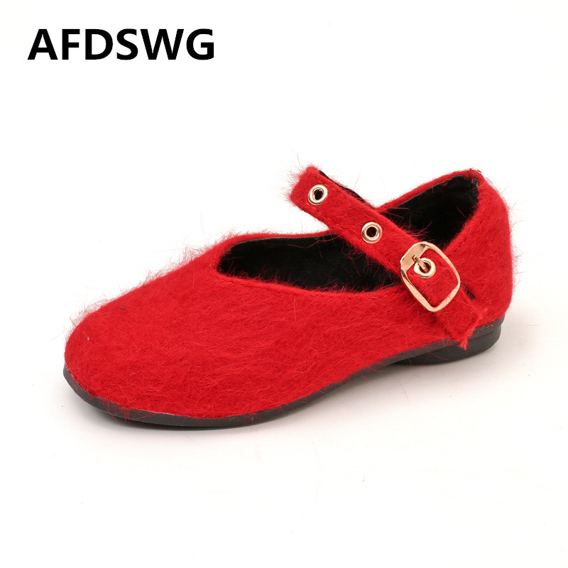AFDSWG spring and autumn fashion red soft bottom girls princess shoes shoes leather childrens shoes children leather shoes