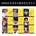 Youpop Atacado Fã KPOP EXO XOXO LOBO ÊXODO Overdose MAMA Diabo Trilha Da Natureza Álbum Autógrafo Assinatura Pequenos Cartões Photocard