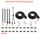 5050 4Pin LED Strip Connector Kit 2 Way RGB Splitter Cable 2m RGB Extension Cable Strip RGB Controller Jumper LED strip