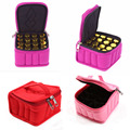16 Lattices for 5/10 /15ML Essential Oils Bag for Traveling Double Zipper Oil Carrying Case Cosmetic Storage Box Bags 877420