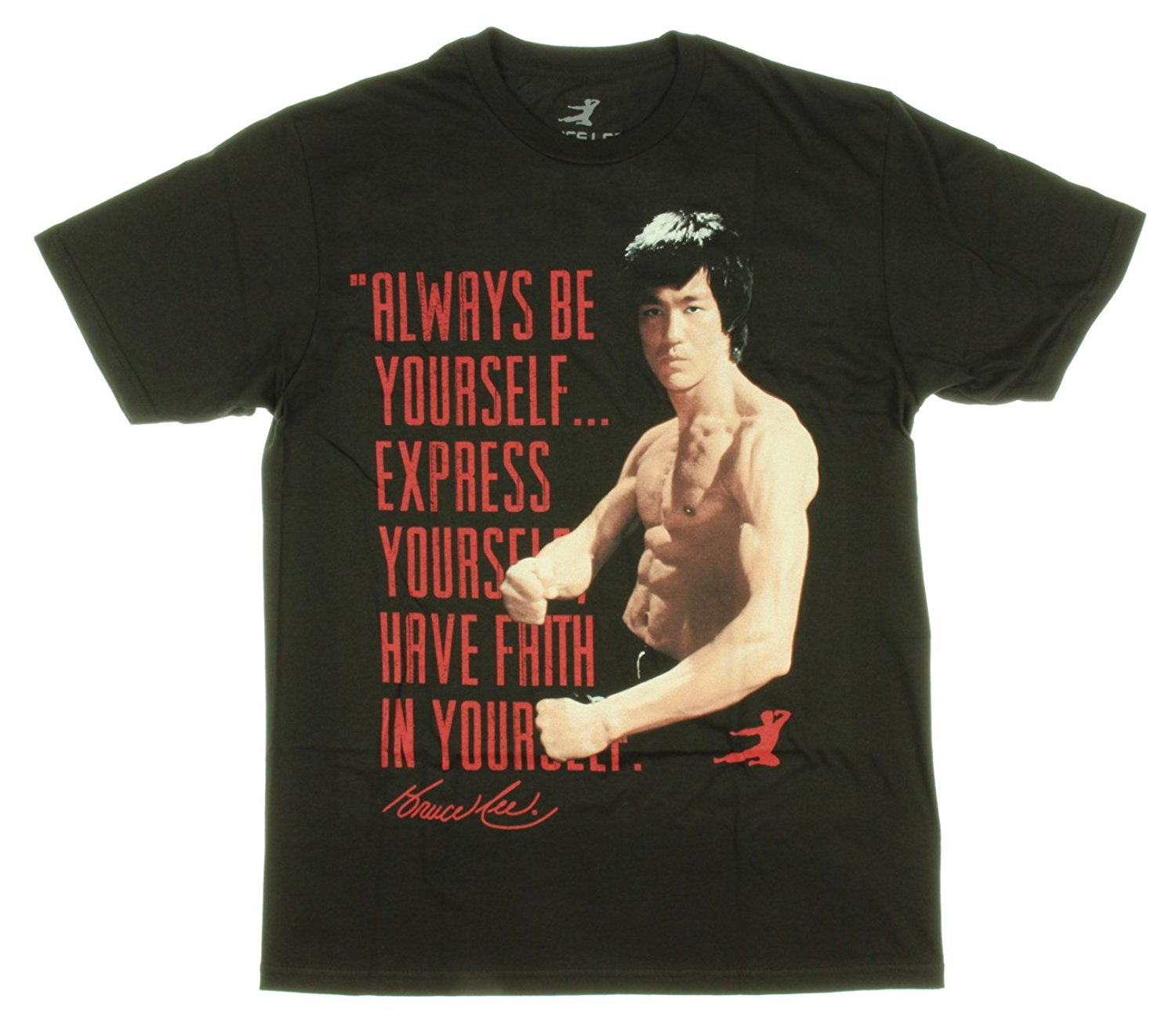 Rude Top Tee Round Neck Bruce Lee Always be yourself express Mens Black T-shirts Stranger Things Print T-Shirts Original