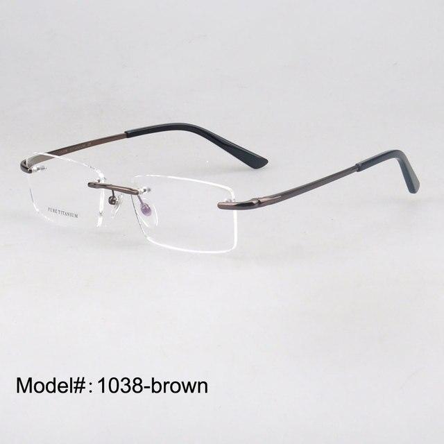 1038 популярные очки без оправы стильный титан оптически рамка для близорукость рецепту очки очки очки