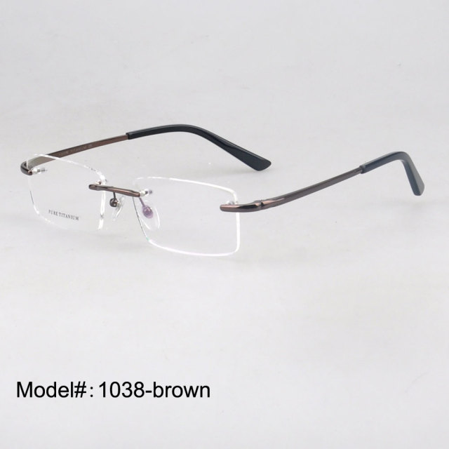c267a4ba2c 1038 popular rimless eyeglasses stylish light titanium optical frame for  men myopia prescription spectacles eyewear eyeglasses