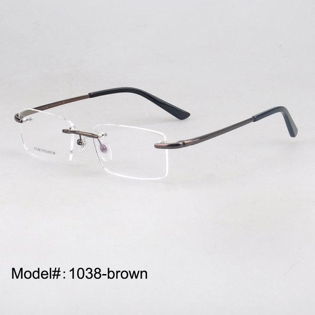 1038 populares anteojos sin montura de luz elegante titanio marco óptico para hombre miopía gafas graduadas gafas anteojos