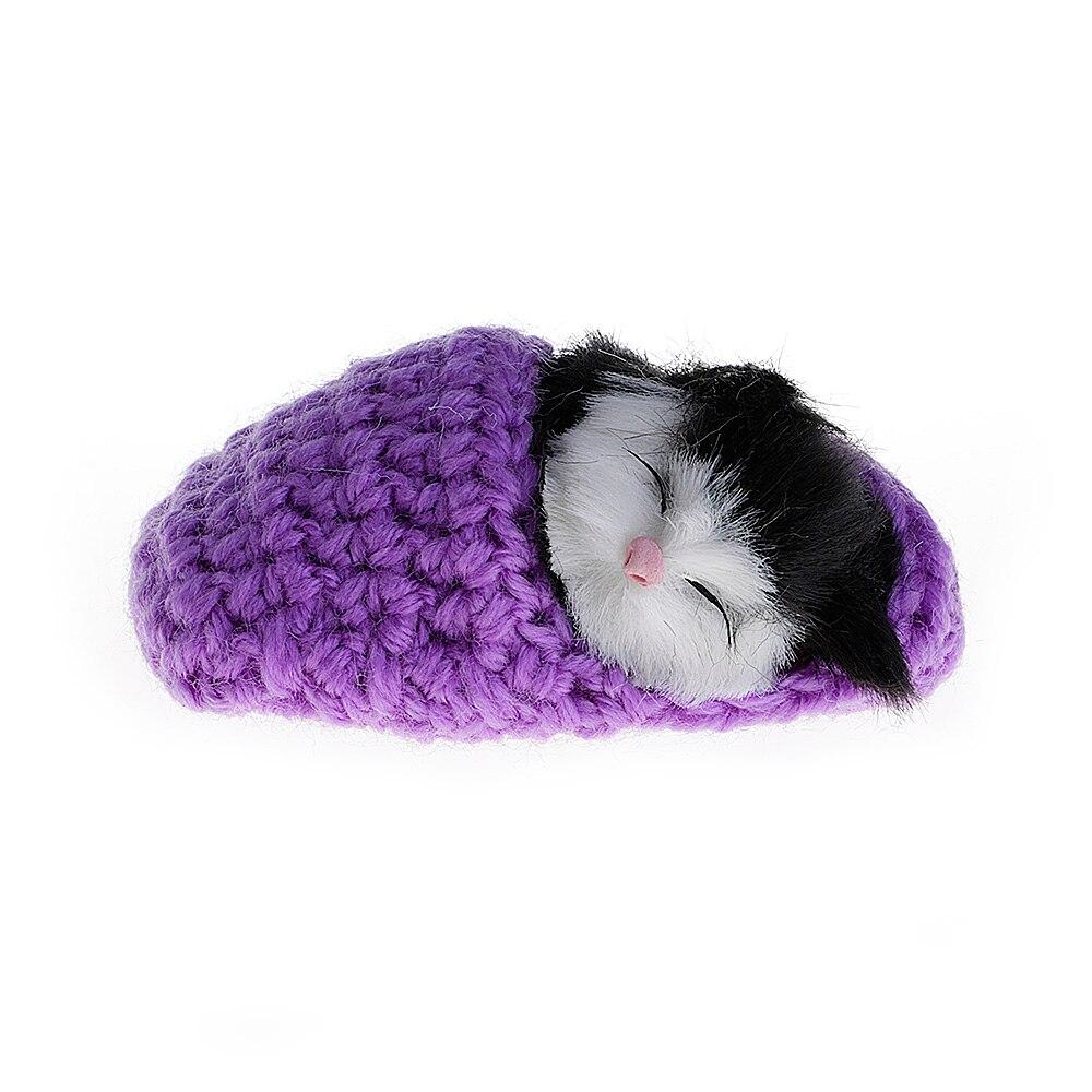 Dormir lindo Gatos Gatitos de Tejer Lana de Zapatos Sonido de ...