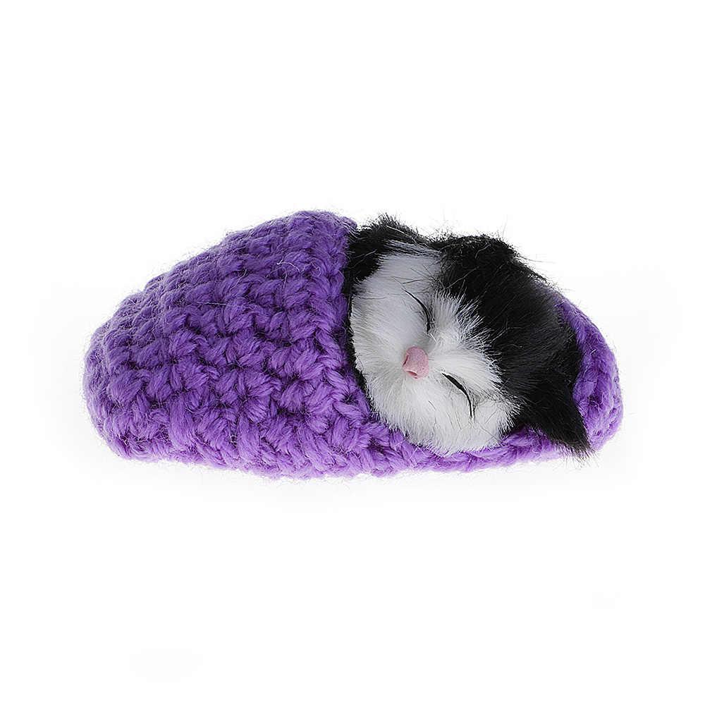 Lucu Tidur Kucing Simulasi Terdengar Sepatu Anak Kucing Wol Knitting Mainan Untuk Anak-anak (pengiriman Acak)