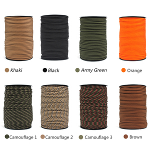 Image 5 - 100M 550 Type Parachute Cord Paracord Lanyard Rope 9 Strand Cores Rescue Tent Hiking Rope Roll