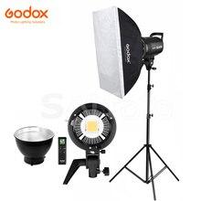 Godox SL 60W SL 100W SL 150W 60*90 centímetros SL 200W LED Luz de Vídeo Softbox Estande 2.8 m Kit 5600 K SL60W SL100W SL150W SL200W Iluminação