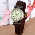 Shsby moda de Nueva caliente-venta de cuero mujer reloj ROMA reloj de la vendimia de las mujeres relojes de vestir