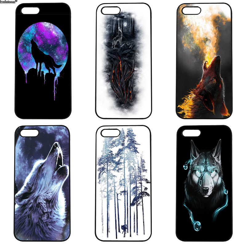 Mobile Phone Cases Winter Lone Reflection Wolf Hard PC Cover for iphone 8 7 6 6S Plus X 5S 5C 5 SE 4 4S iPod Touch 4 5 6 Shell
