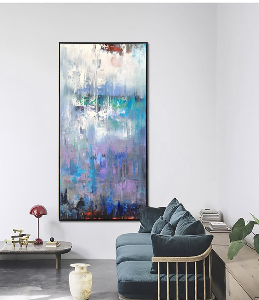 MUYA abstrakte kunst ölgemälde auf leinwand zeitgenössische acryl ...