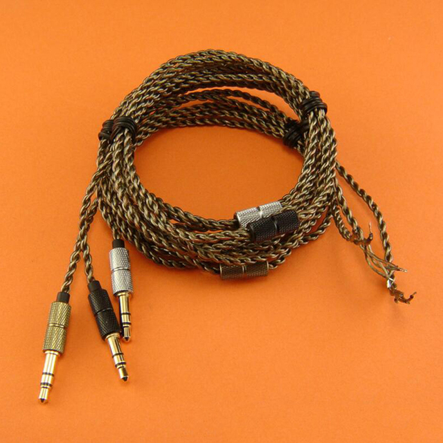 Upgrade DIY Earphone Cable HIFI Replacement Audio Cables Wire Twist ...