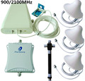 900/2100 MHz 2g/3g/4g amplificador de Señal Del Repetidor Amplificador de 70db Teléfono Celular Móvil Extensor de señal + 4 Antena + Cable
