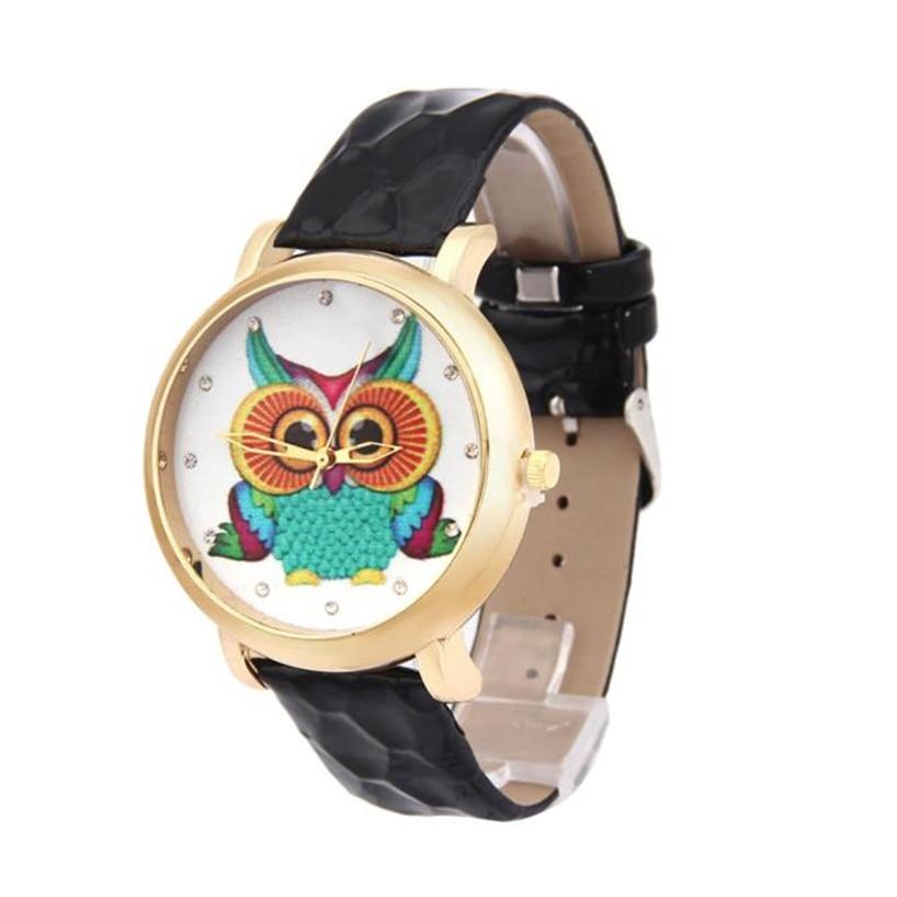 2017 Fashion Owl Shoes Pattern Leather Band Analog Quartz Vogue Watches elogio masculino feminino gift ma09Levert Dropship 5Down