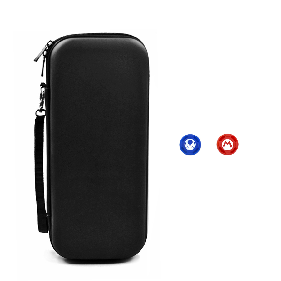 Nitend Switch Storage Case, Nintendos Nintend Switch Portable Carry  Bag with Silicone Thumbstick Grip Caps for Nintendo Switch  2